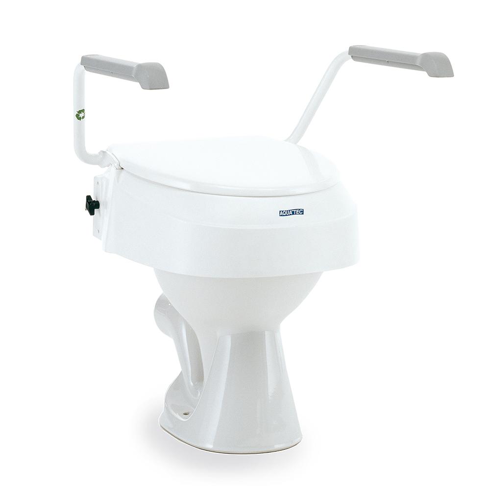 Invacare Aquatec 900 Toilettensitzerhöung mit Armlehne