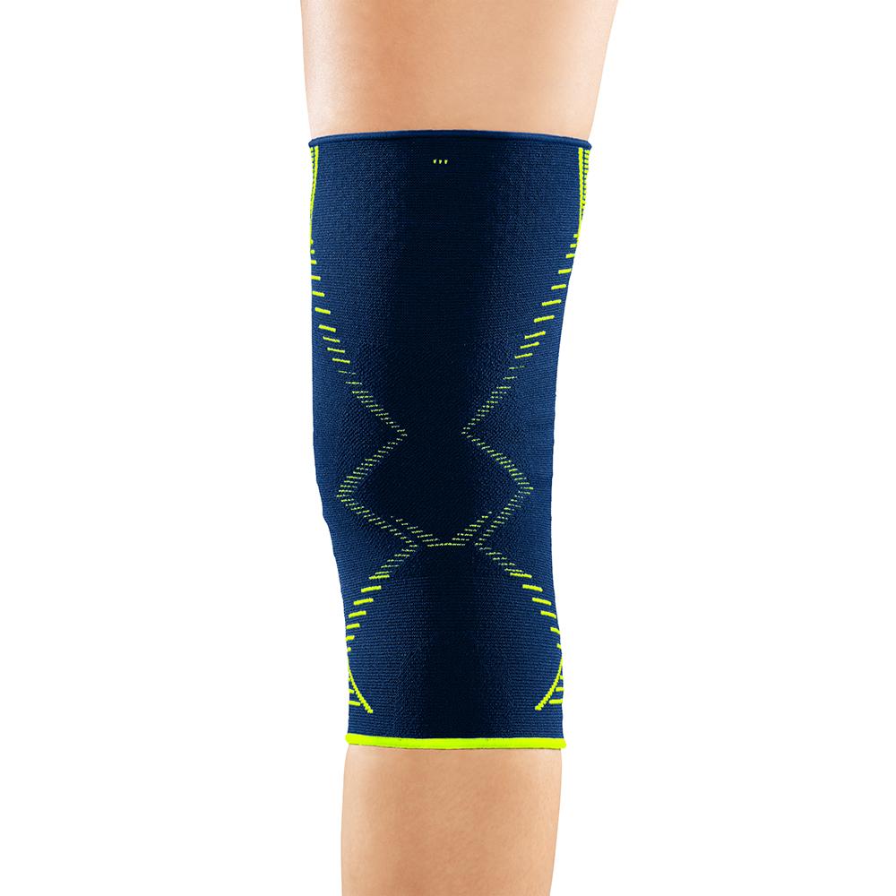 medi Emotion Genumedi blaue Kniebandage von hinten