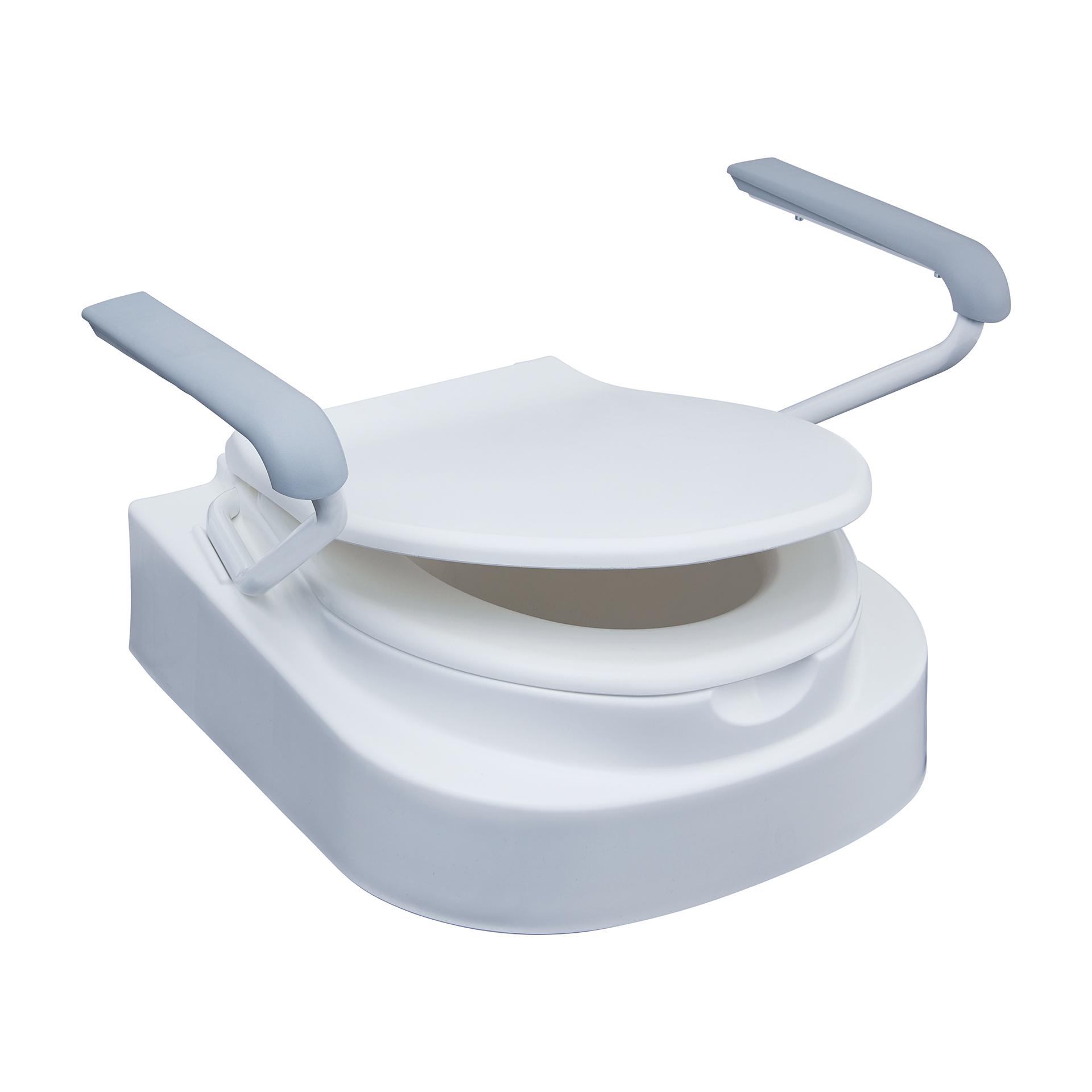 Relaxon Star Toilettensitzerhöhung mit Armlehnen und Deckel